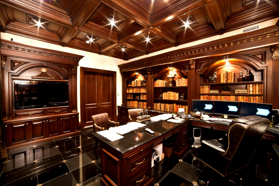 archways-and-brown-tone-wood-in-traditional-home-office