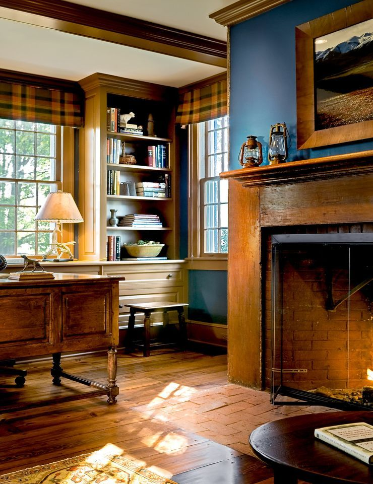 build-in-bookshelves-dark-wood-fireplace-for-traditional-home-office-and-study