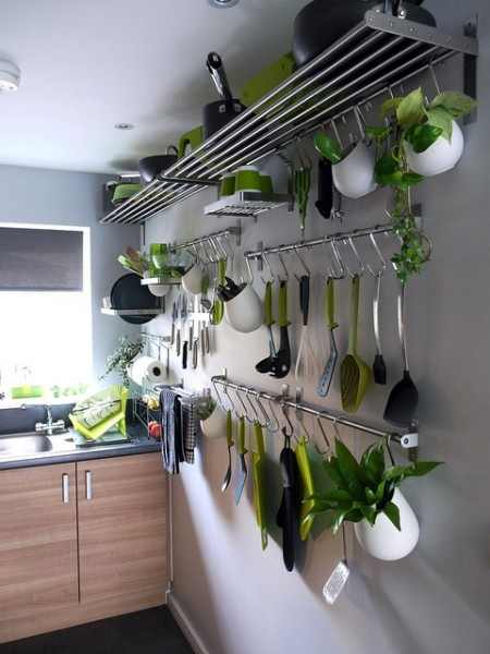 creative hanging kitchen storage