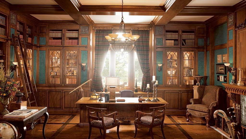 european-traditional-home-office-design