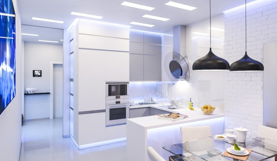 white modern kitchen design 2016