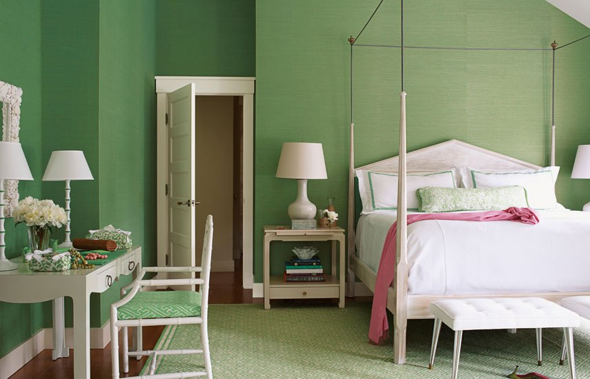 Modern Green Color Bedroom