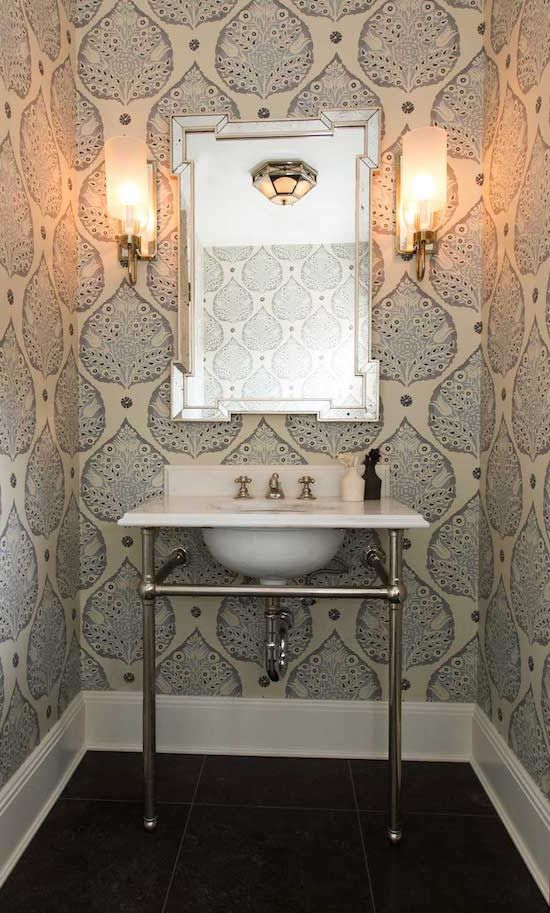 Art Deco Bathroom Wallpaper