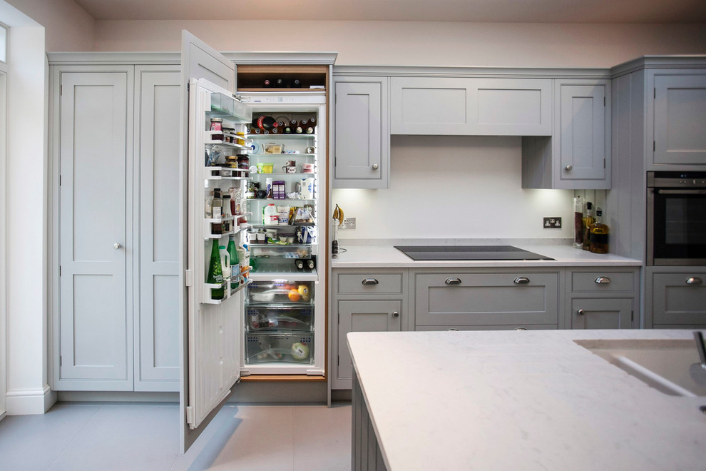 Contemporary Cabinet Built In Refrigerator