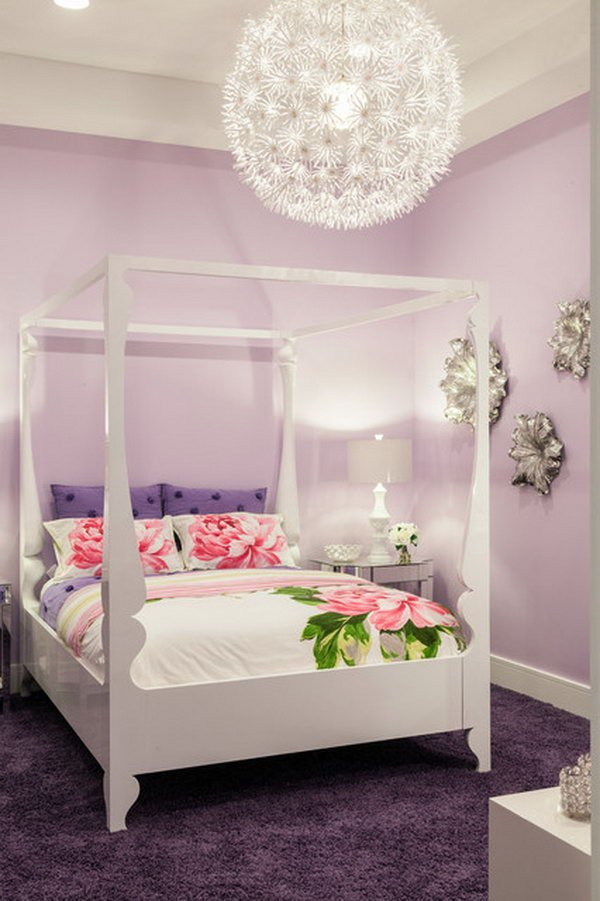 Enchanting Purple Pastel Bedroom