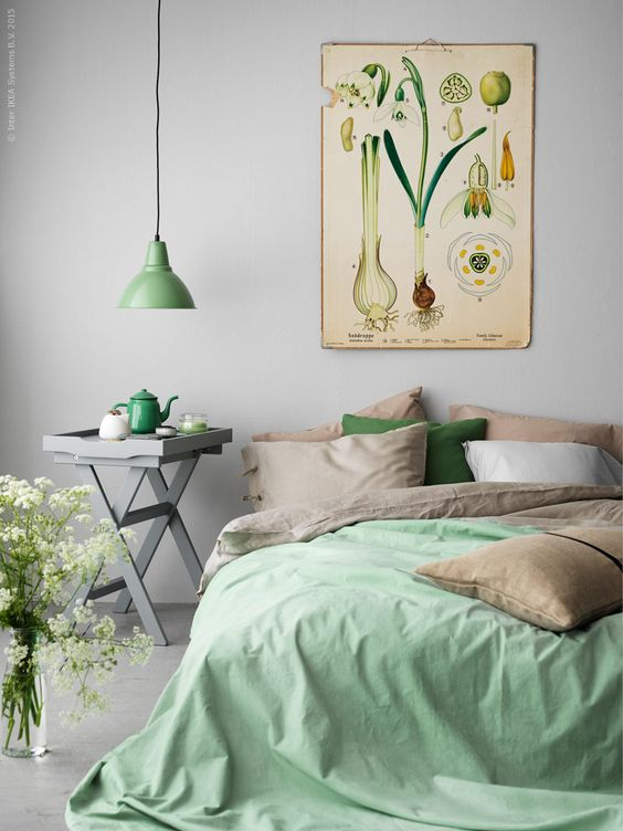 Green Pastel Bedroom