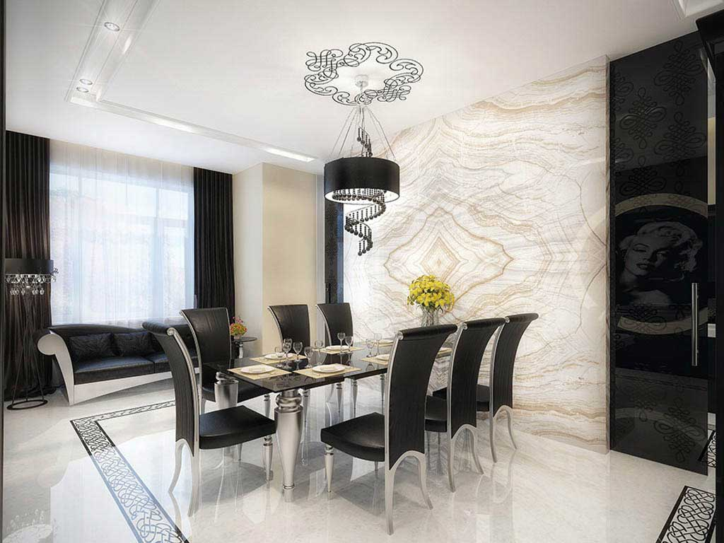 Modern Dining Room Design With Luxurious Dining Room
