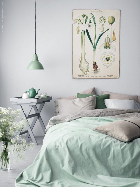 Serene Blue Pastel Bedroom