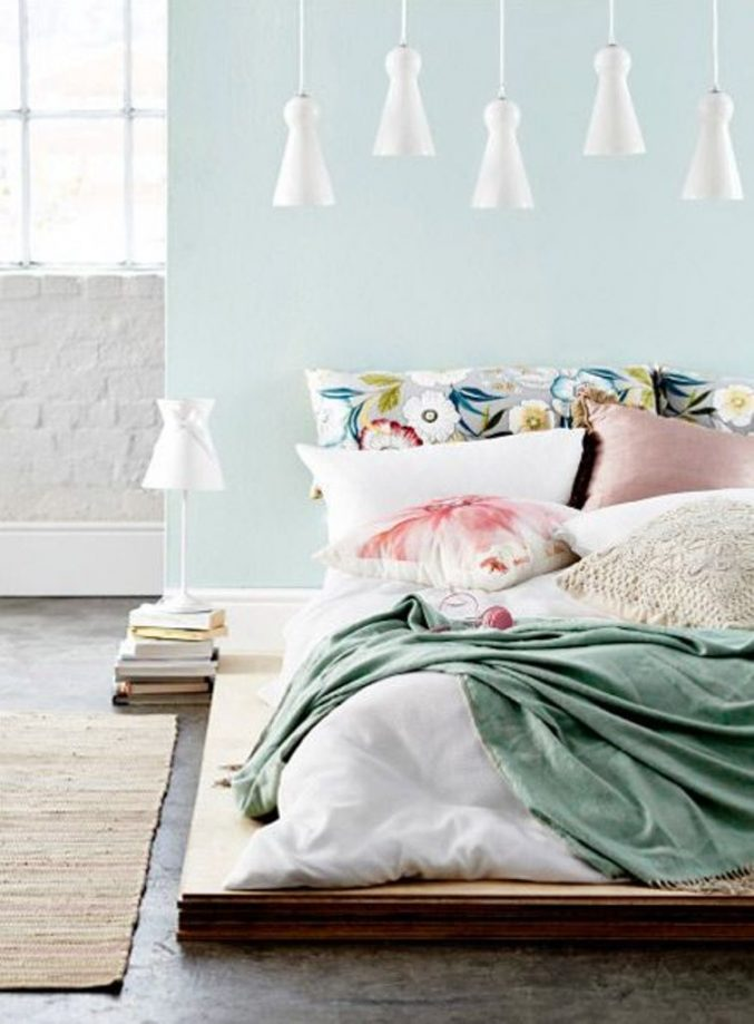 Soft Pastel Bedroom Design