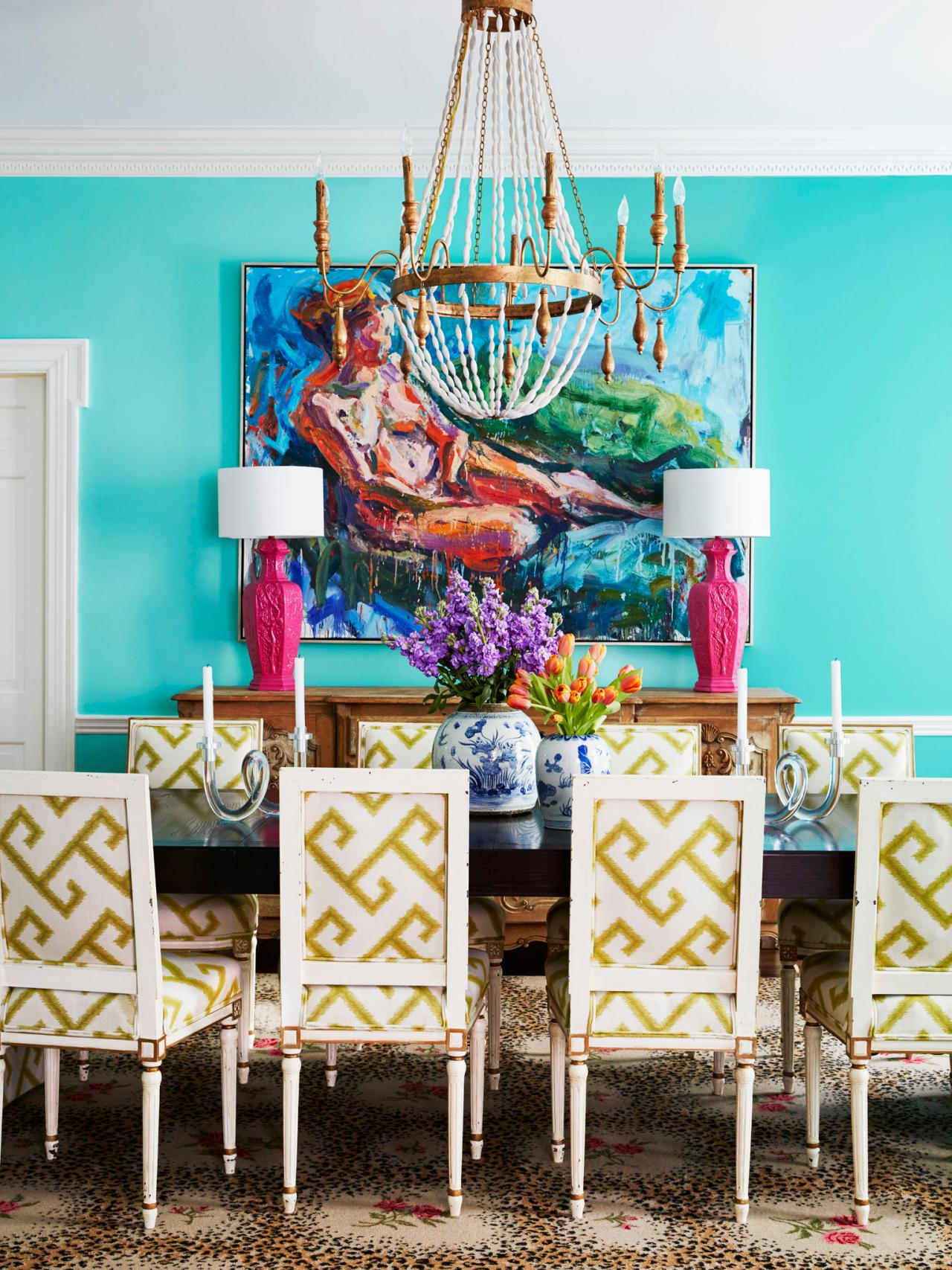Stunning Colorful Dining Room (1)