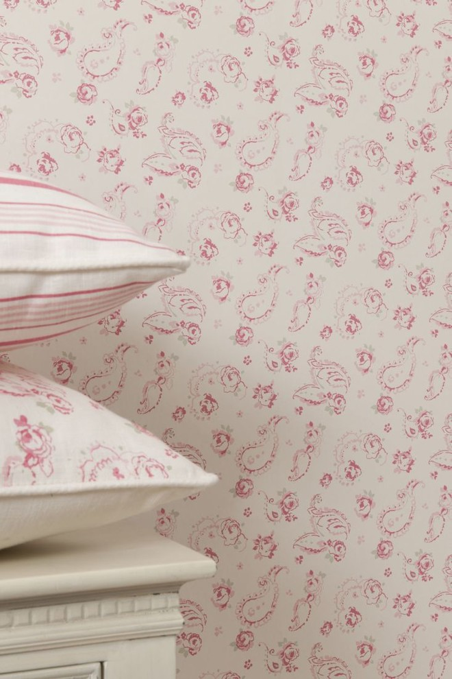 Sketch Design Traditional Bedtoom Wallpaper