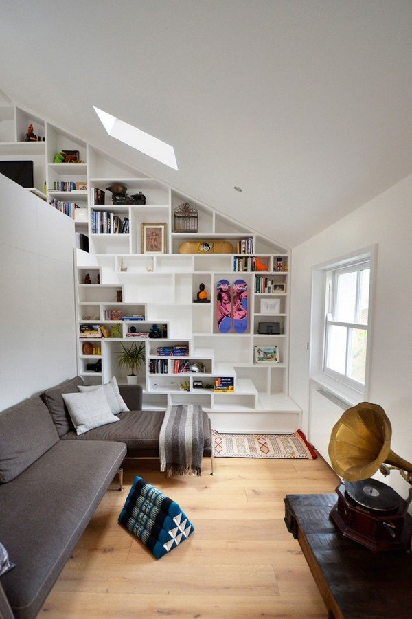 Space saving under stairs storage