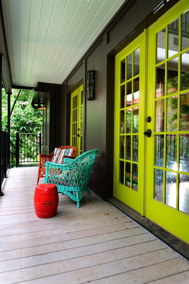 Eclectic Porch Design