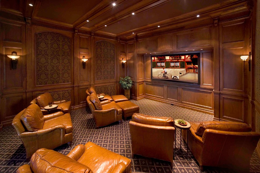Traditional Home Theater Design