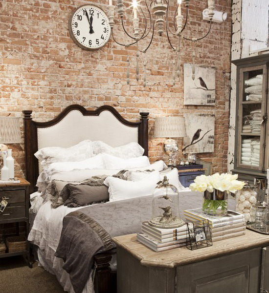 bedroom-idea-decorate-a-brick-wall-behind-bed