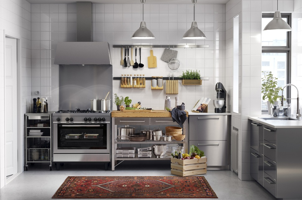 contemporary-stainless-steel-kitchen