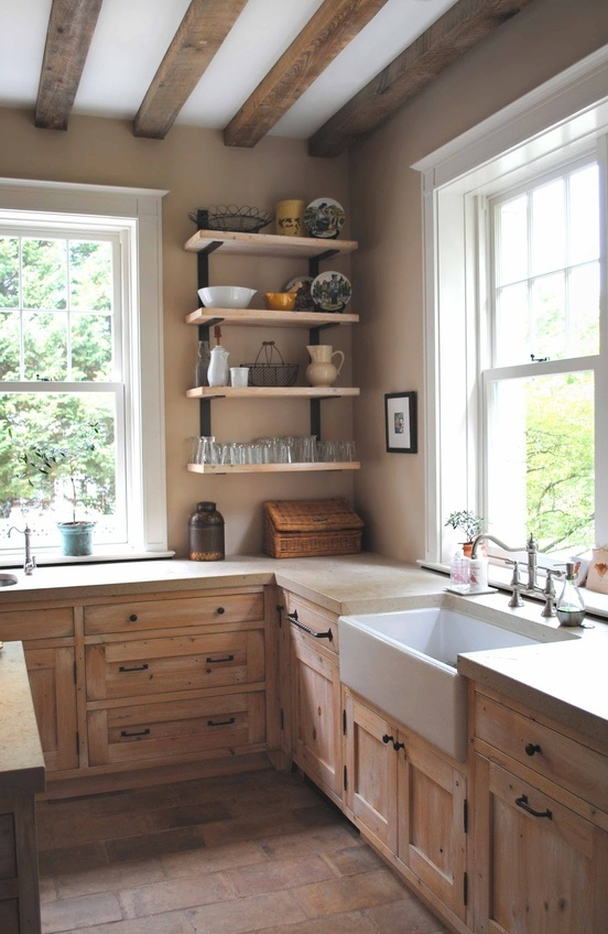 country-kitchen-with-wooden-cabinet