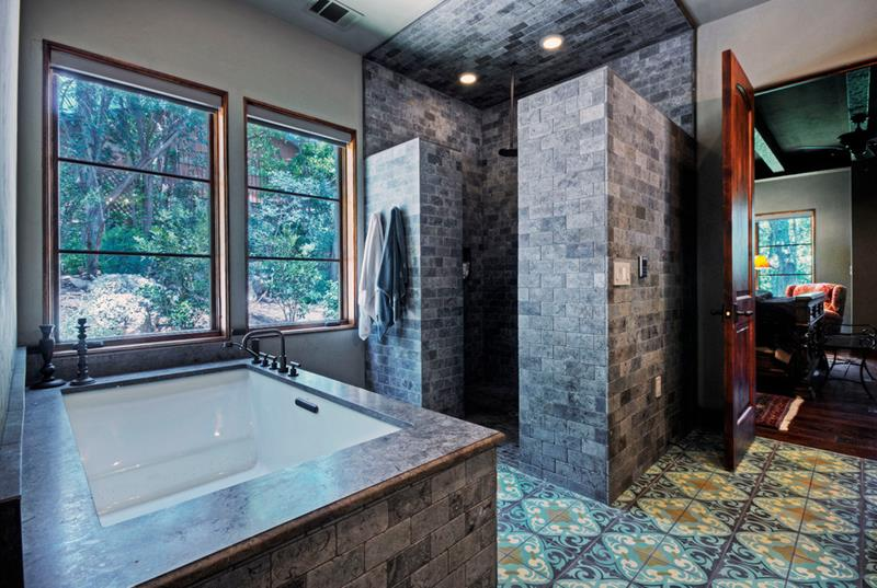 dark-bathrooms-with-walk-in-showers