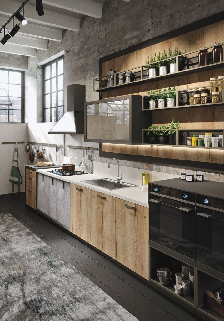 industrial-contemporary-kitchen