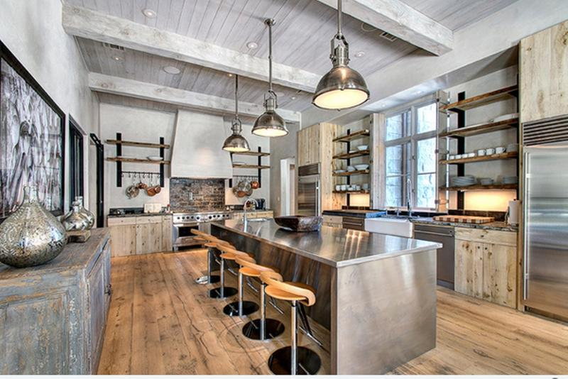 industrial-kitchen-with-vaulted-ceiling