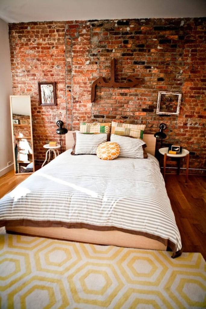 modern-bedroom-designs-with-exposed-brick-wall