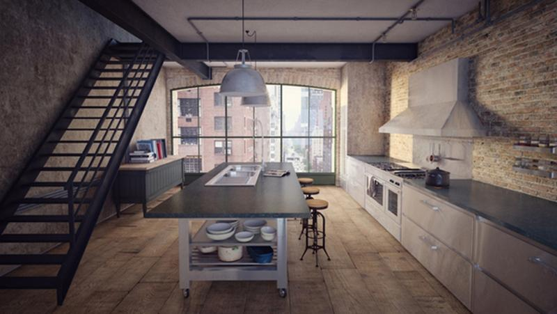sleek-industrial-kitchen