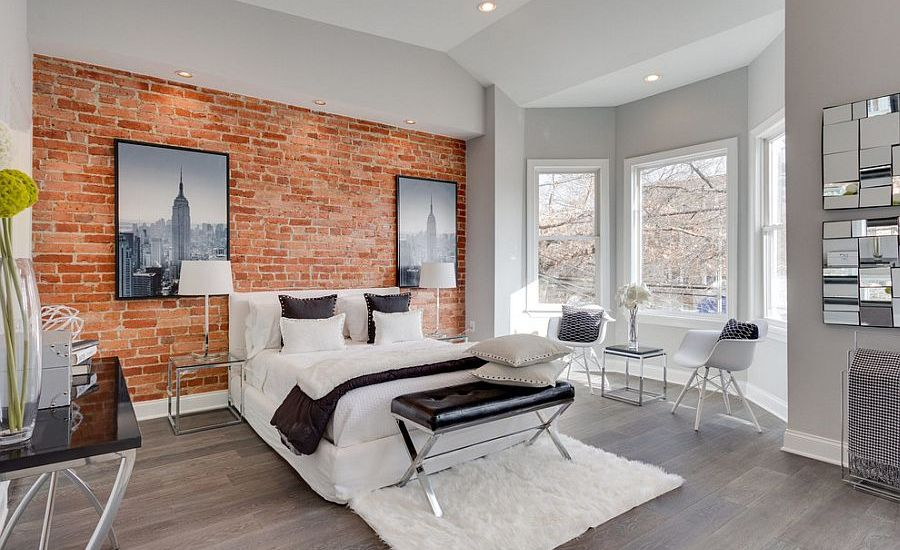 sophisticated-brick-wall-bedroom-design