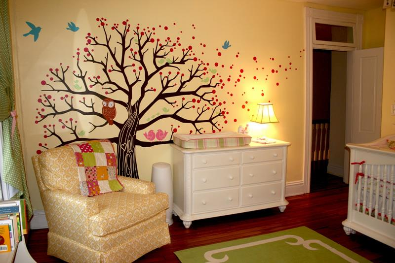 neutral-orange-nursery-designs