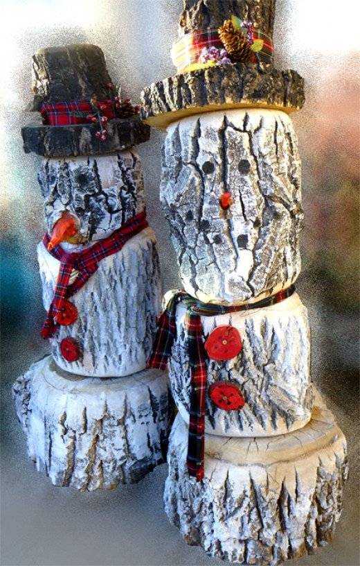 diy-log-snowmen