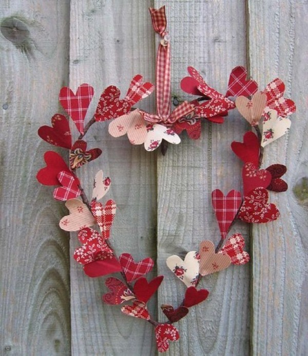 Indoor Wreath Valentines Day Party Decoration