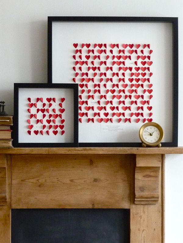Mantel Living Room Valentine's Day Decor