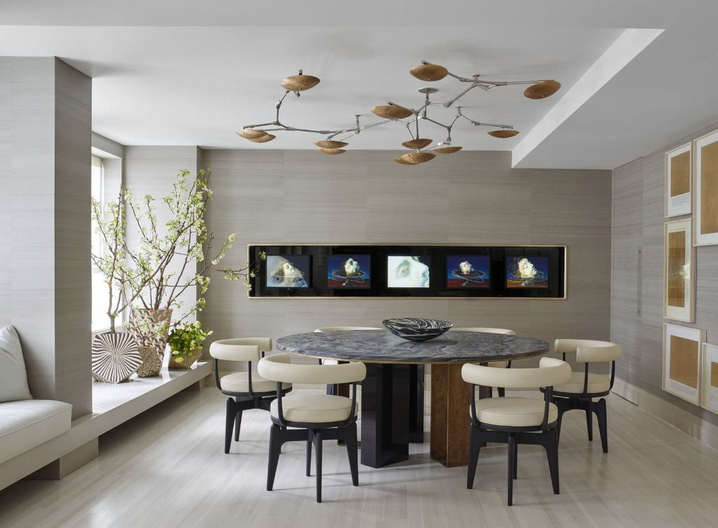 Spacious Contemporary Dining Room