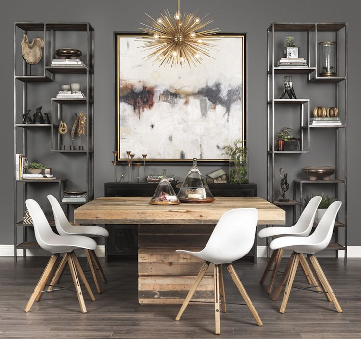 Square Contemporary Dining Room