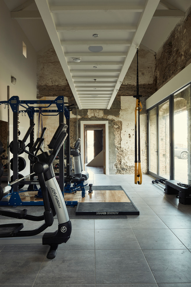 Rustic Home Gym Design