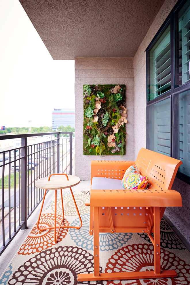 Small Eclectic Balcony Design