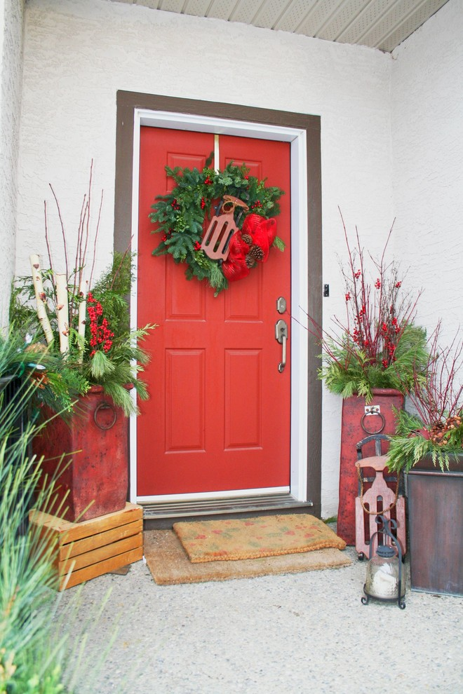 Christmas Front Entry Decor