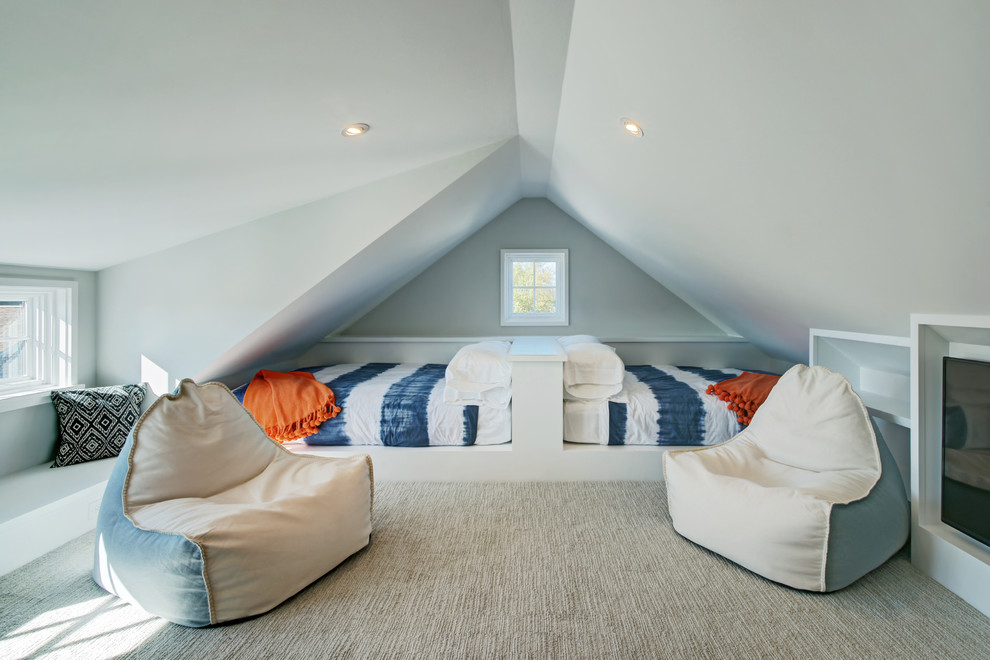 Kids Attic Beach Style Bedroom