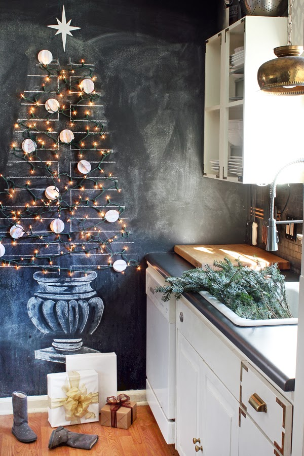 Kitchen Chalkboard Christmas Tree