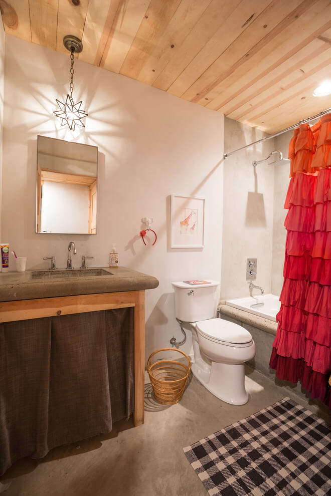 Eclectic Small Bathroom Design