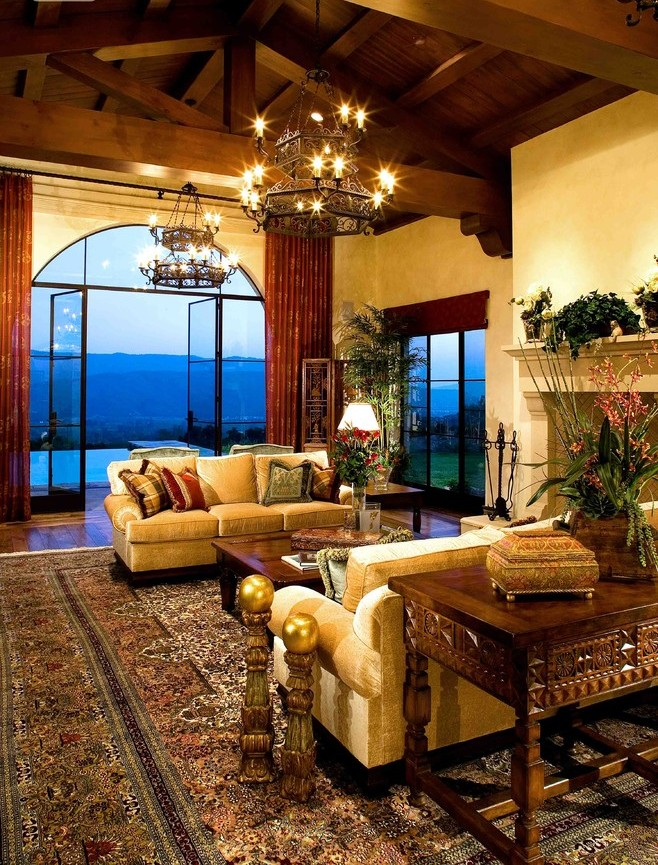 Large Country Open Beam Living Room Dwellingdecor