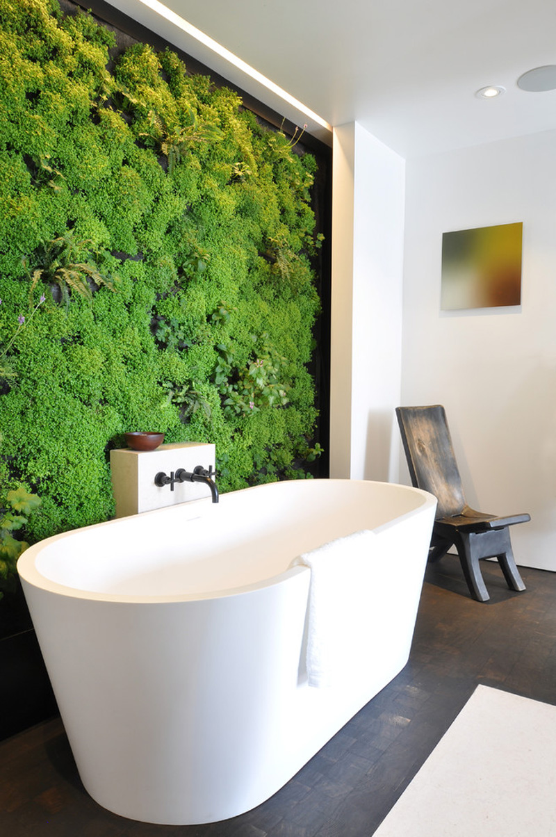 Nature Inspired Small Bathroom