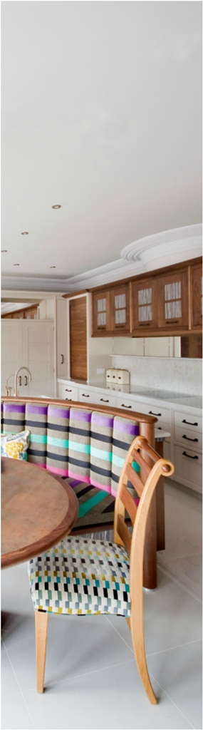 All White Eclectic KItchen With Eat In Dine Dwellingdecor