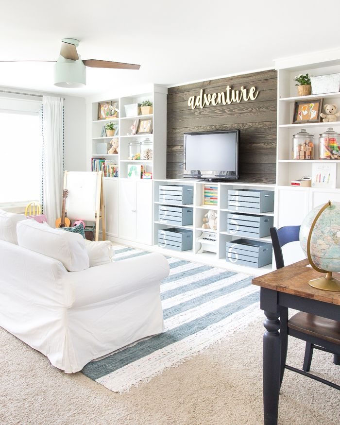 Eclectic Farmhouse Playroom Makeover dwellingdecor