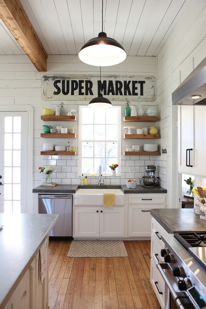 Eclectic Kitchen With Farmhouse Style Wall Dwellingdecor