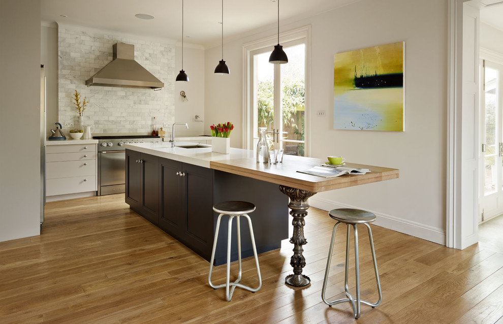 Eclectic Kitchen With Standout Kitchen Island Dwellingdecor