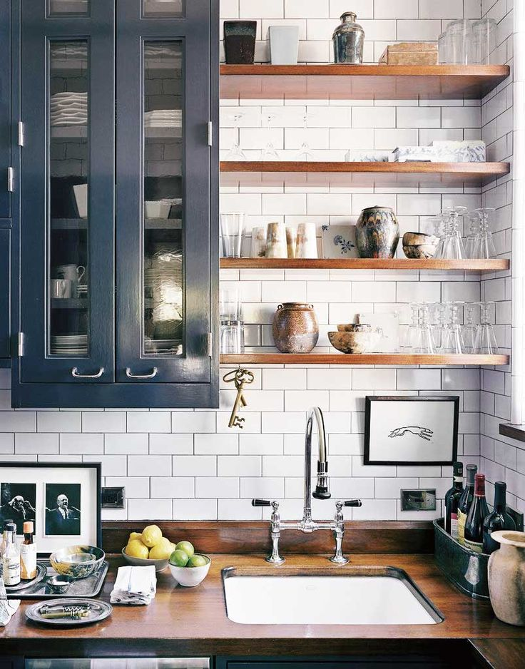 Eclectic kitchen design with gray cabinets dwellingdecor