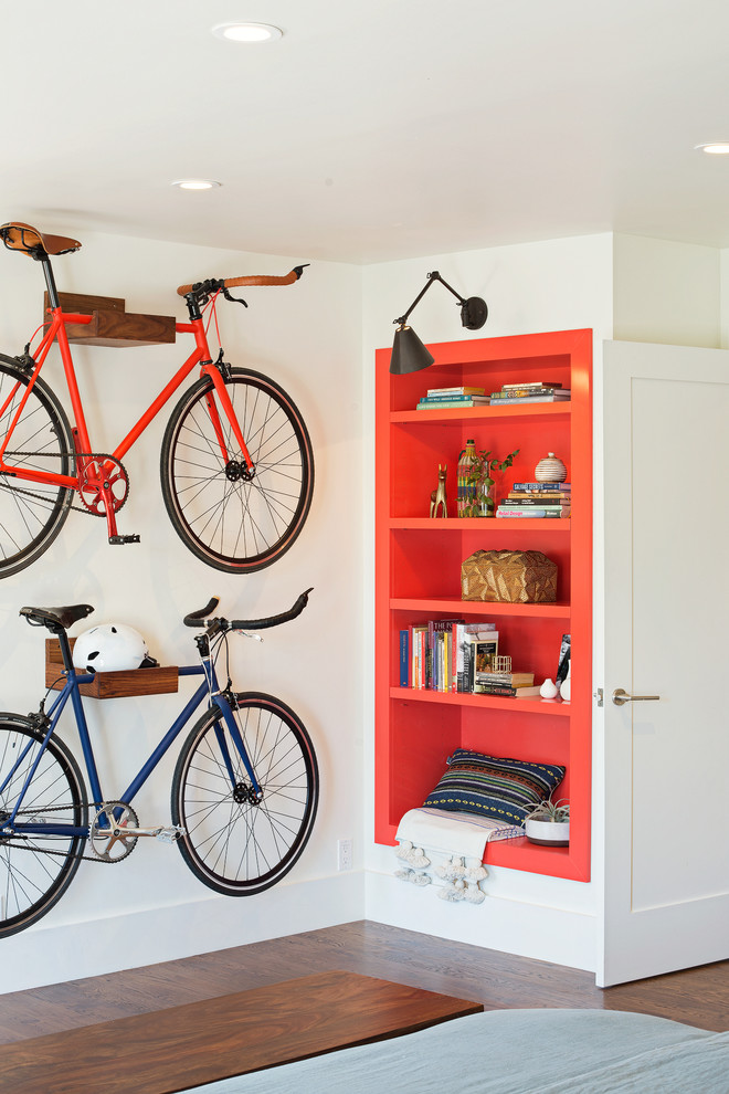 Industrial Entryway With Smart Bike Storage