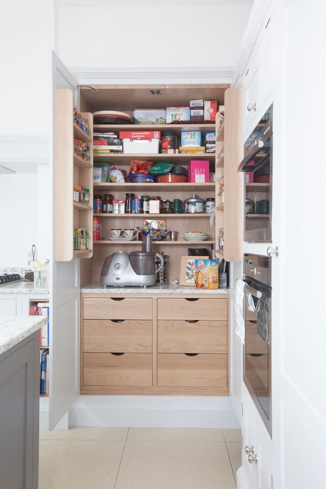Transitional Small Pantry Remodel With Present Space