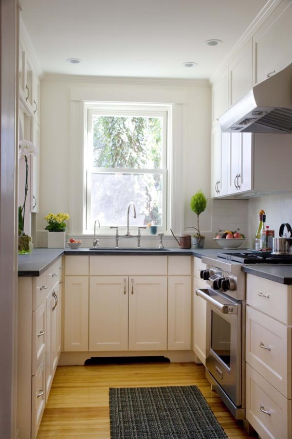 White Black And Brown Color Combination Small Kitchen Dwellingdecor