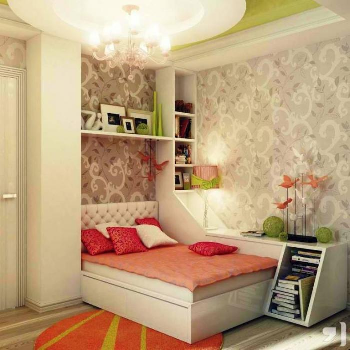 Peach Green Gray Girls Bedroom Ideas With Round Rug Dwellingdecor